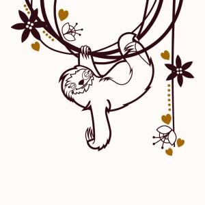 Lenochod spící