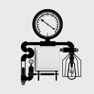 Steampunkový vypínač