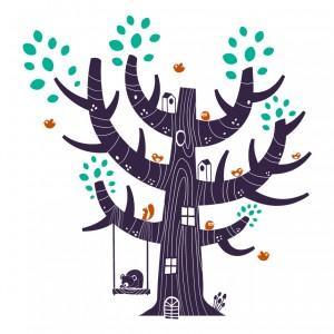 Strom uprostřed lesa