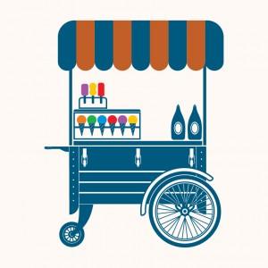 Vozík se zmrzlinou