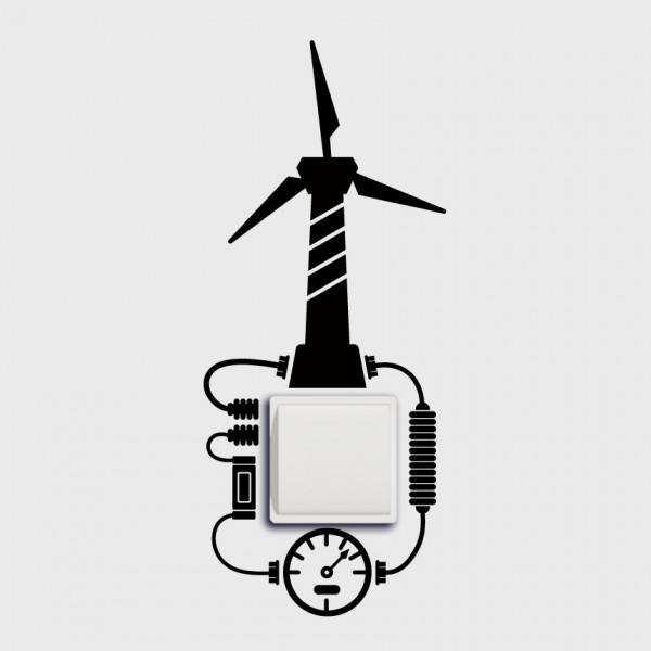 Větrná elektrárna na vypínač